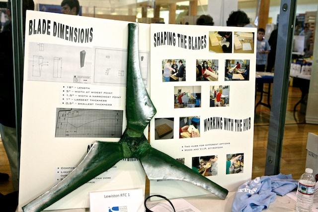 Lewiston, Maine, students display design details at 2013 Wind Blade Challenge