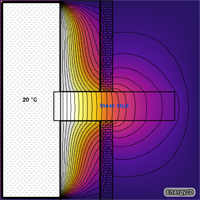 Thermal bridge 2D diagram