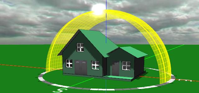 Sun and shade diagramming software